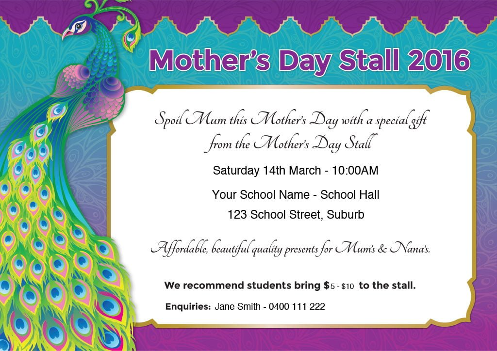 Mother's Day Gift Stall Poster