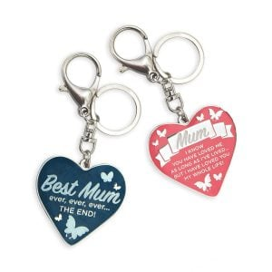 Mum's Heart Keyrings