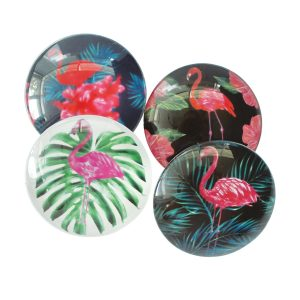 Flamingo Glass Magnets