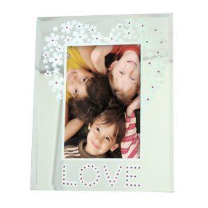 'LOVE' Glass Photoframe