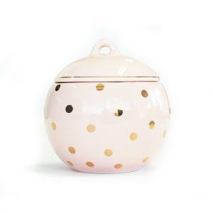 Trinket Box in Pink & Gold