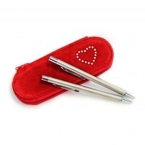 Pen Set in Red Case