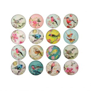 Floral Bird Magnets