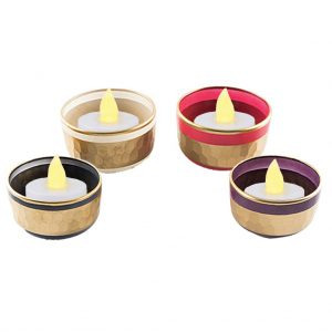 Gold Trim Tealight Holder